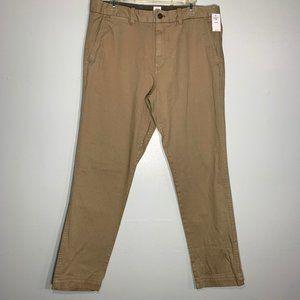 NWT Gap Tan Straight Leg Khaki Pants 34x30